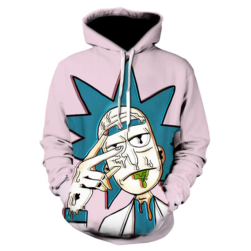 N Rick and Morty men hoodies sweatshirts 3D hip hop Print sweatshirt Hooded Unisex Scientist Anime Hoodies men/women clothing