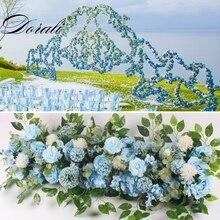 DIY wedding flower wall arrangement supplies 50cm/100cm silk peonies rose artificial row decor iron arch backdrop