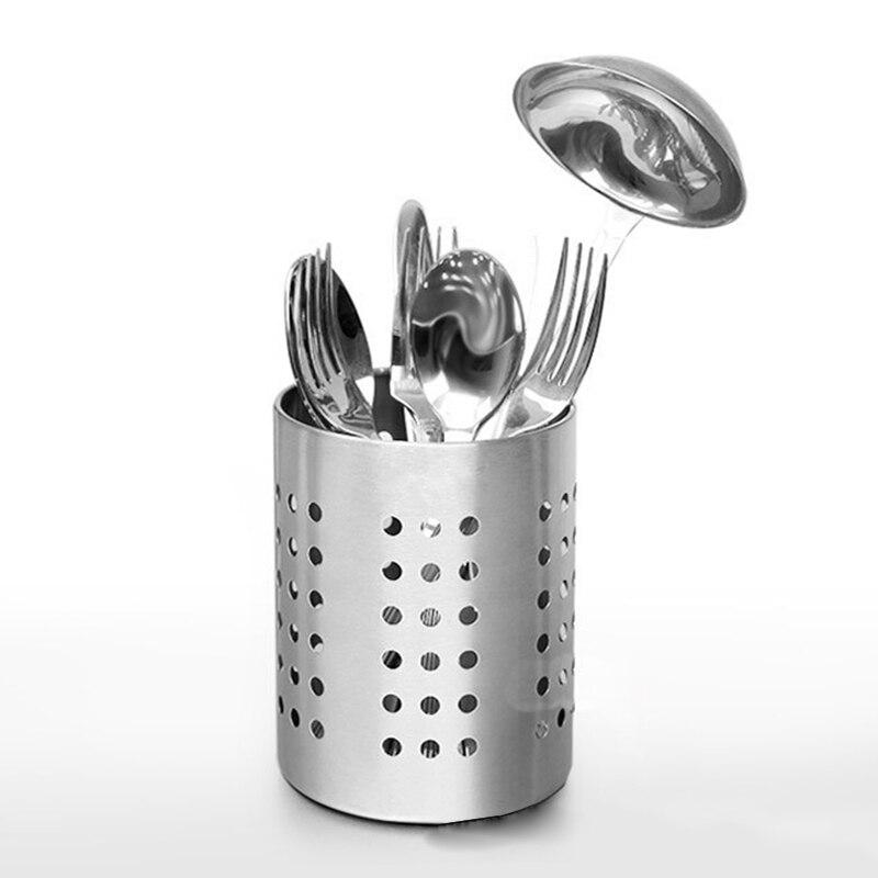 Us 2 74 40 Off Stainless Steel Cutlery Holder Drainer Storage Spoon Chopsticks Organizer Rack In Bottles Jars Bo From Home Garden On
