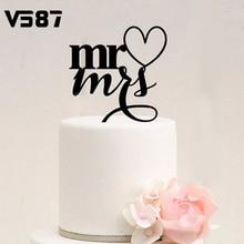 Personalized Wedding Cake Topper Casamento Decoration Unique Acrylic Custom Name black Mr & Mrs Bilayer Structure Love stand