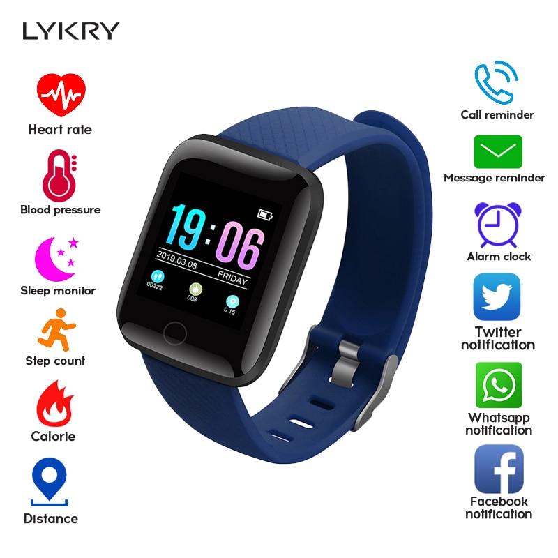 LYKRY A6S Smart Bracelet Men Women Pedometer Sport Blood Pressure Heart Rate Monitor Color Screen Smart Band IP67 Waterproof xanes a6s