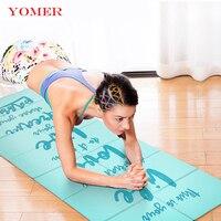 YOMER мм 5 мм ПВХ Нескользящие складные коврики для йоги для фитнеса тонкие Йога тренажерный зал коврики для упражнений уличные коврики фитнес...