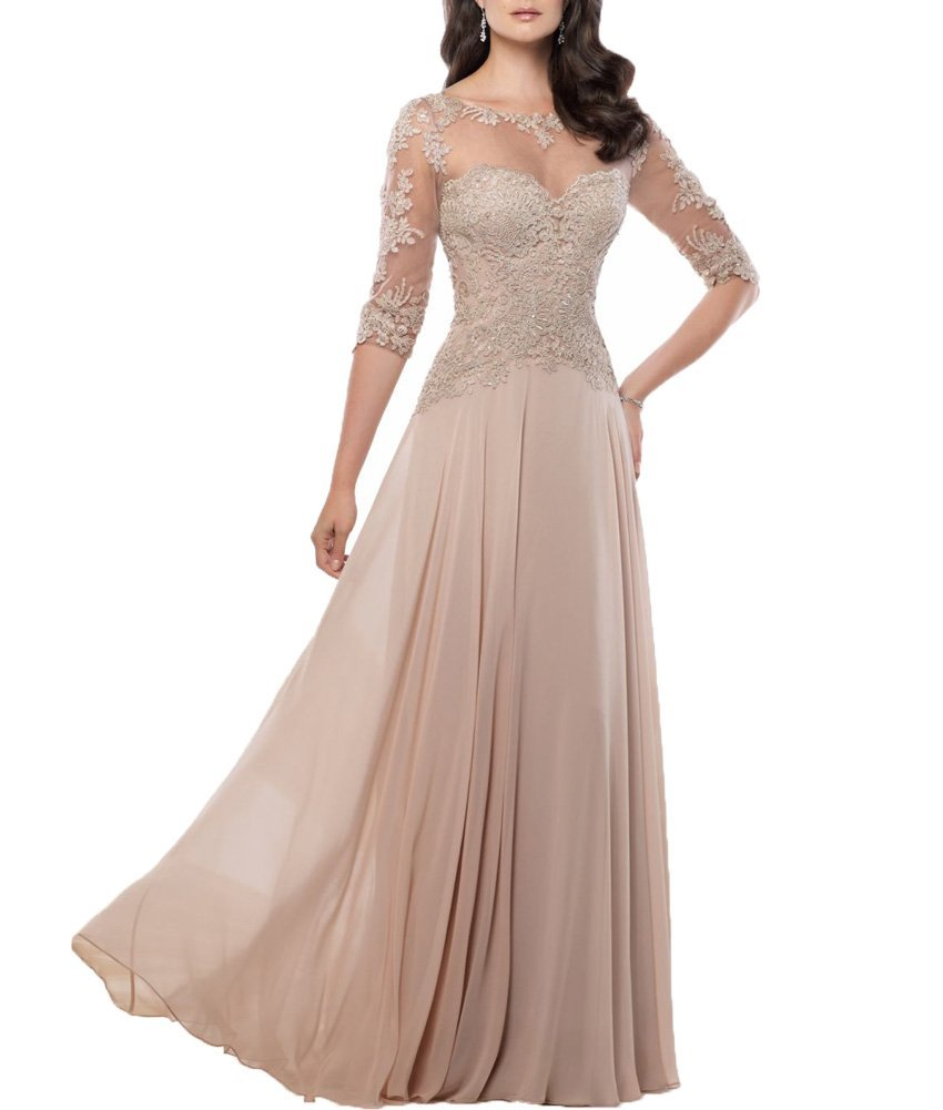 Chiffon Navy Blue Dark Red Champagne Mother of the Bride ...