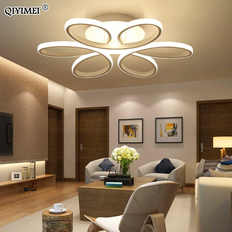 Потолочный с дистанционным управлением светильники для гостиной спальни белый черный цвет корпуса дома деко лампа AC90-260V дома освещение приспособление