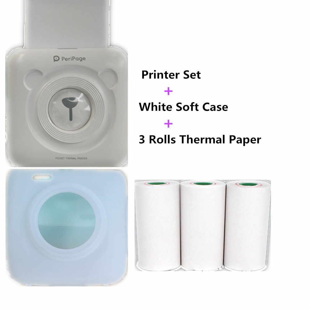 GOOJPRT Мини Портативный фотопринтер подарок термоэтикетка Bluetooth принтер Мягкий защитный чехол бесплатное приложение стикер веб-заметки принтер