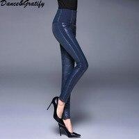 Dance&Gratify Women Duck Down Pants Winter High Waist Skinny Warm Snow Pants Female Slim Boot Cut Trousers