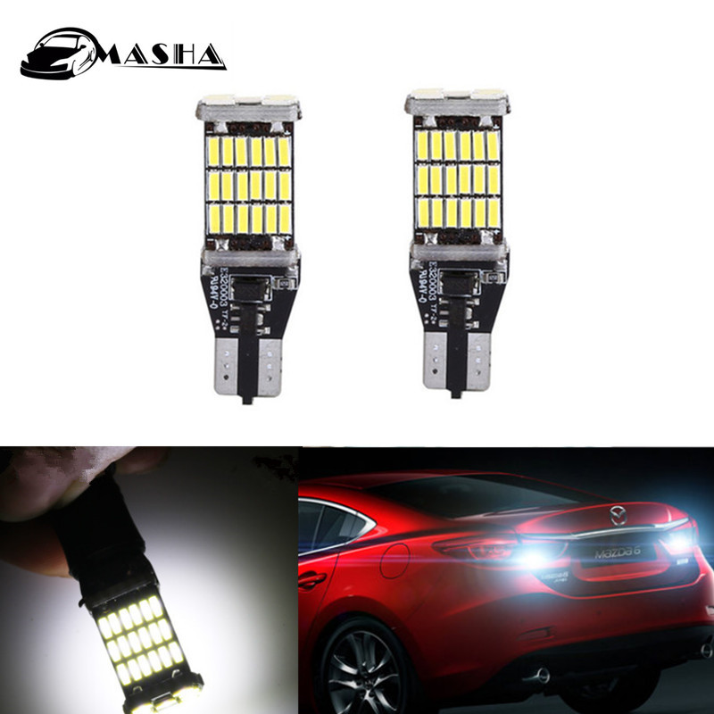 2Pcs Canbus T15 W16W 4014 SMD 45 <font><b>LED</b></font> Car Reverse Light No Error Backup Light For <font><b>Mazda</b></font> 8 CX-3 CX3 CX-5 CX5 CX 5 M8 RX8 M5 image