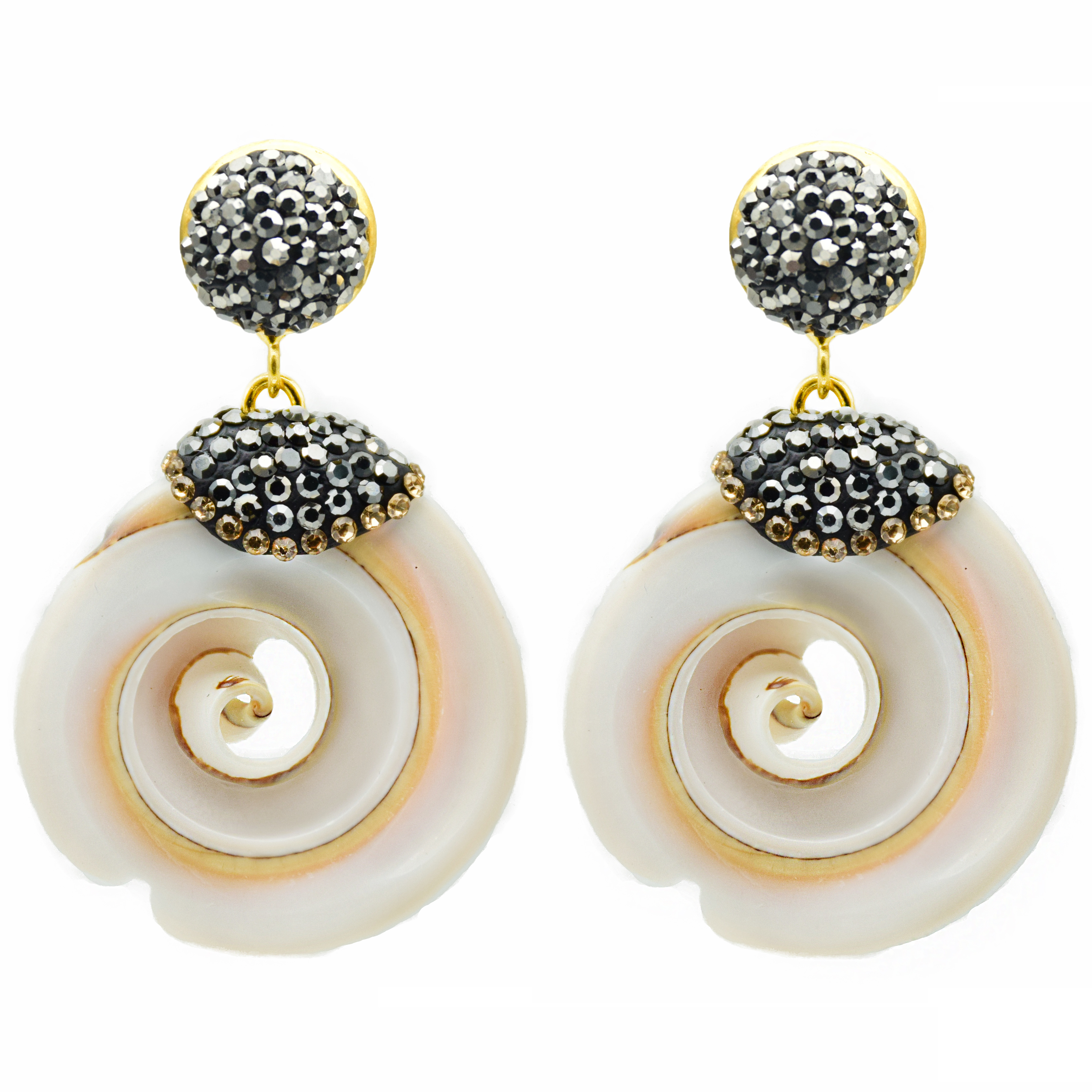 Handmade Jewelry Round Shell Earrings For Women 2019 High Quality Geometry Summer Beach Earrings Wedding Party EH0090