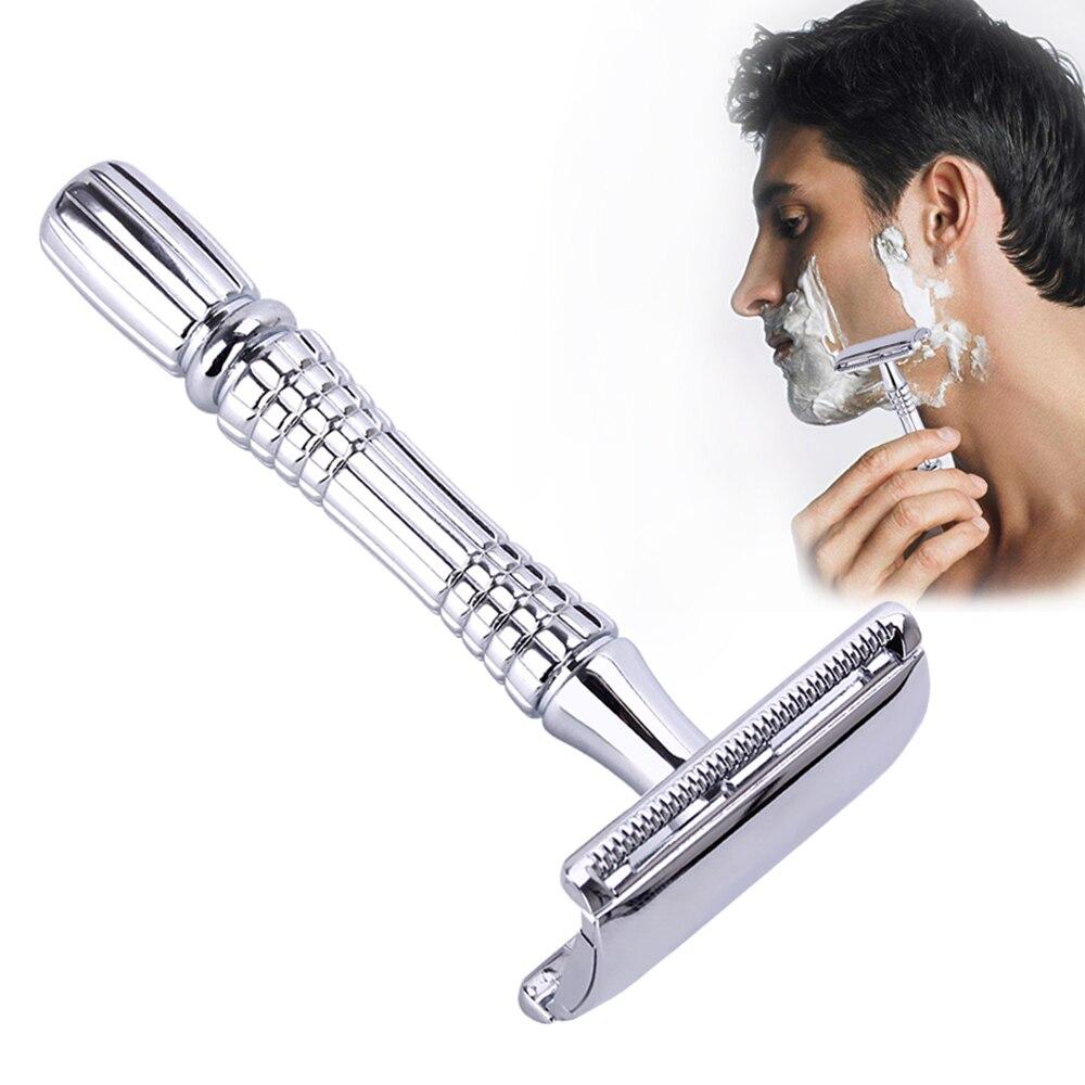 Safety Double Edge Razor For Men Shaving Set Knife Barber Straight Razor Men's Adjustable Shaving Razor Blades Shaving Machine 1