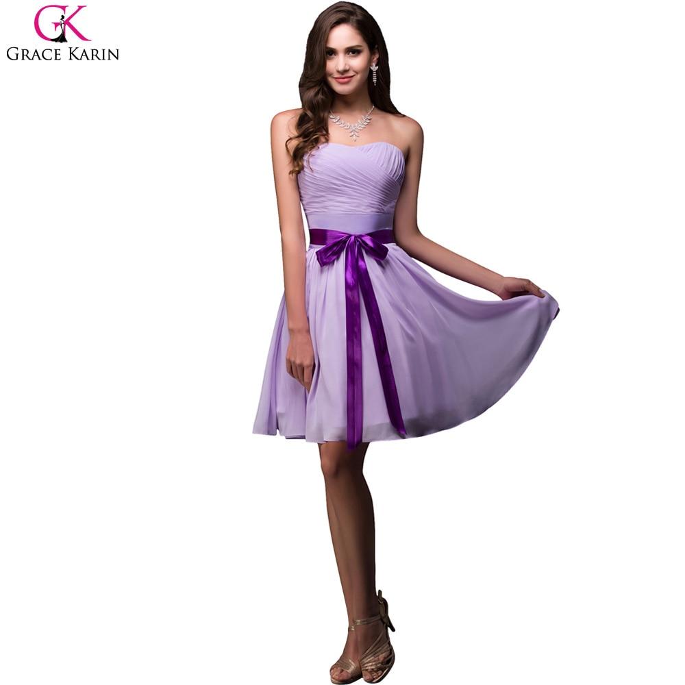 Grace karin gasa vestidos de dama de 2017 sin tirantes corto ...