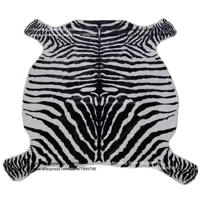 Zebra Print Rug Cowhide Rug Classic Safari Large Area Mat For Home Lion  Carpet Anti