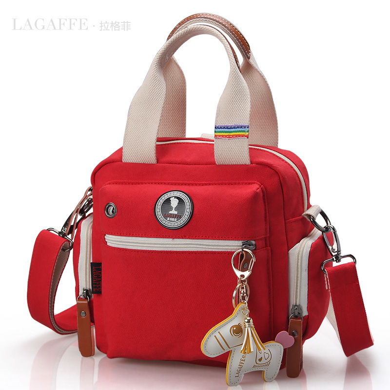 LAGAFFE Fashion multifunctional backpack mini nappy bag mother bag one shoulder cross-body bag of mother