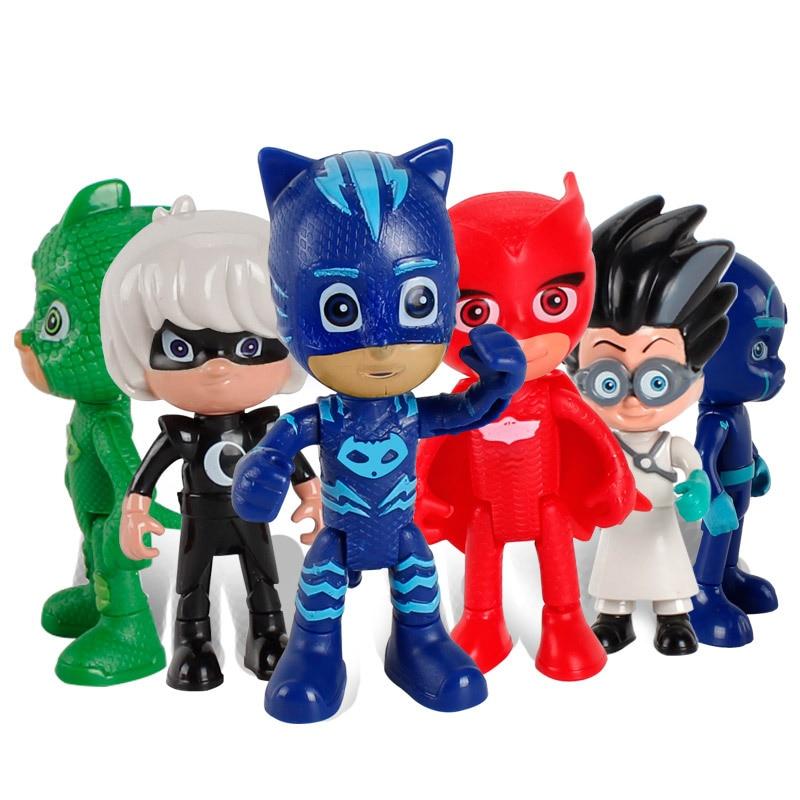 Pajamas Masked Hero Pjmask gekko With ABS Car Cartoon Characters Anime Figurine Miniatur ...