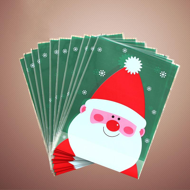 Pcs lot plastic christmas bags santa claus gift bag