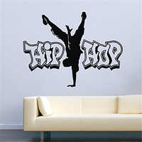 Декоративная Виниловая наклейка в стиле хип-хоп для танцев, силуэта, танцев, домашнего декора, съемная Настенная Наклейка MY54