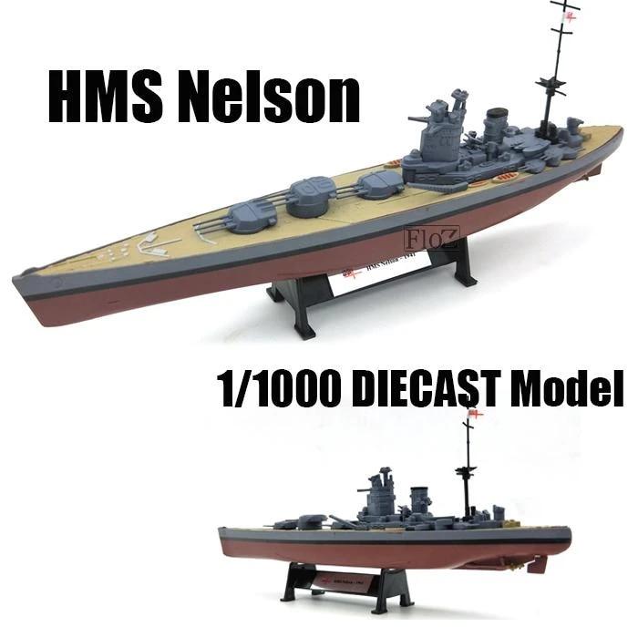 FLOZ WWII HMS Nelson class British Royal Navy battleship 1//1000 DIECAST model ship