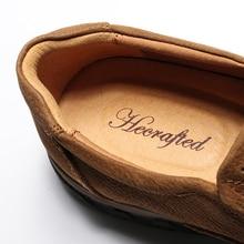 Ankle handmade Full Grain Leather men shoes #LS8275