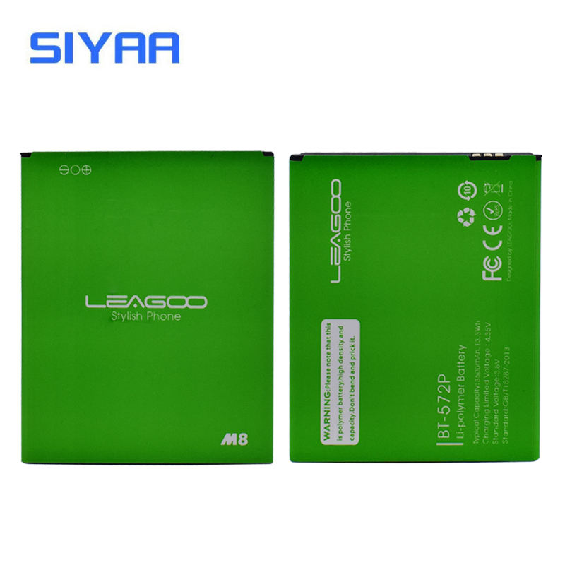 Original SIYAA BT-572P BT572P Battery For Leagoo M8 M8 PRO 3500mAh High Quality High Capacity Replacement Li-ion Battery