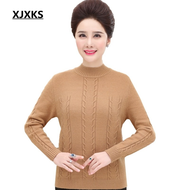 XJXKS 2019 new selling women pullovers and sweaters solid color wool and  cashmere knitted fashion autumn women sweater e282ad217