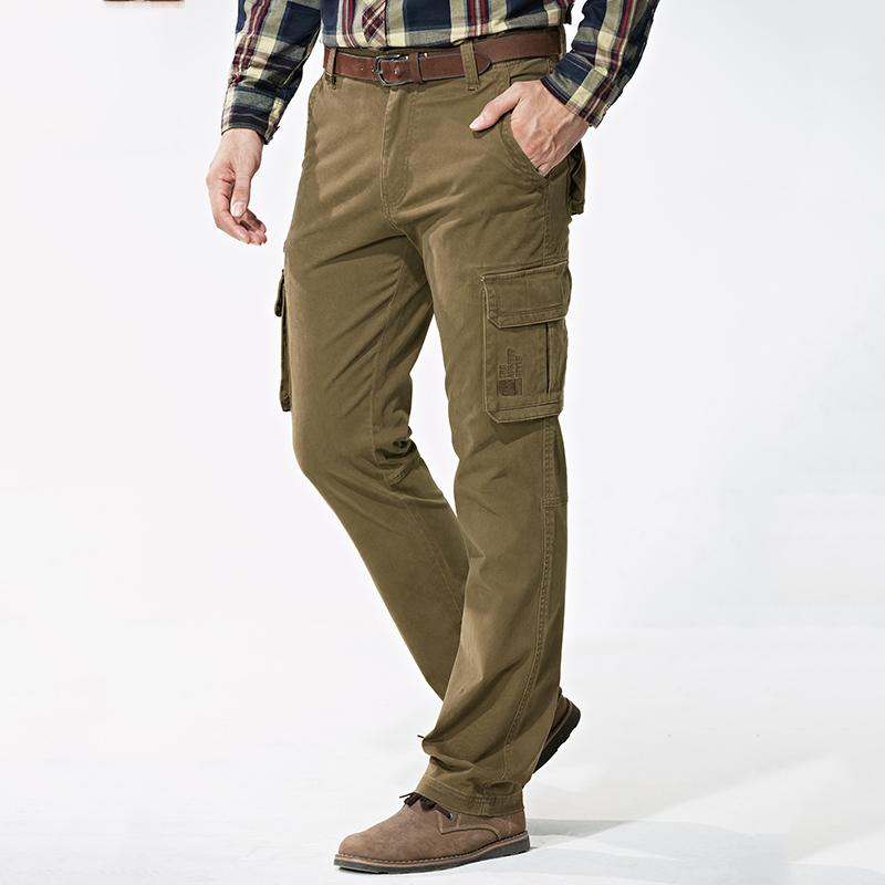 Thick Military Outdoor Mens Trousers Multi Pockets Loose Hunting Pants Men CQB Trekking Hiking Pants Cargo Pants Mens Overalls