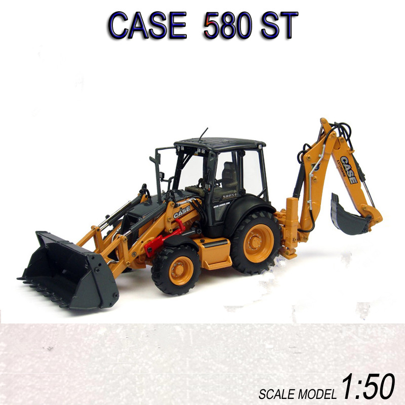 UH8079 Collectible Model 1:50 CASE 580ST Sliding Loader Excavator Construction Vehicles Diecast Toy Model  for Decoration,GiftUH8079 Collectible Model 1:50 CASE 580ST Sliding Loader Excavator Construction Vehicles Diecast Toy Model  for Decoration,Gift
