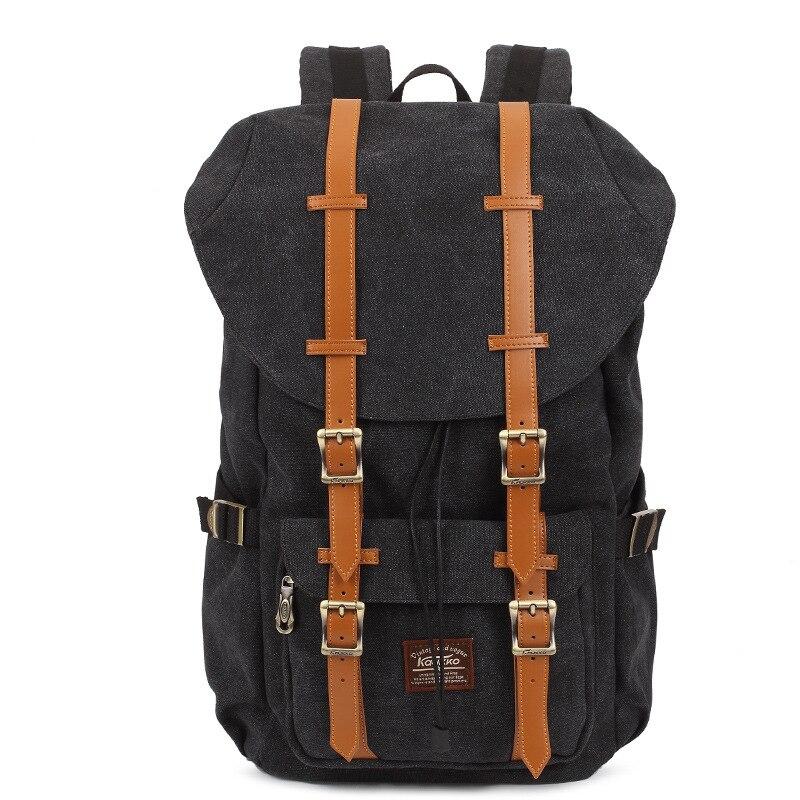 ФОТО 2016 New Large Capacity Brand Canvas Backpack Men Laptop Rucksack High School Bag Casual Daypack Vintage Bookbag Travel Backpack