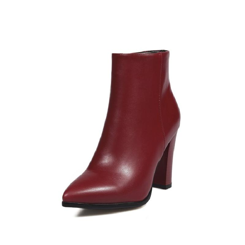 SALCXOI spring/autumn fashion ankle boots for women pointed toe super high heels shoes solid big size winter boots woman &6721-1