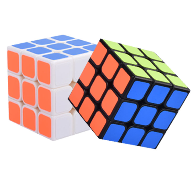 57mm Classic Magic Toys Cube3x3x3 PVC Sticker Block Puzzle Speed Cube Colorful Learning& ...