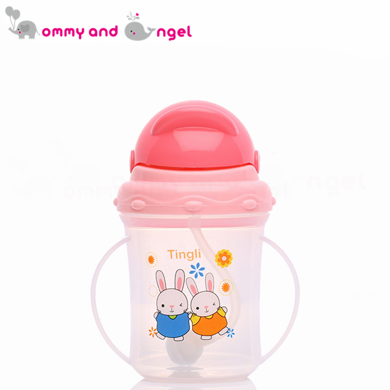 MOMMY AND ANGEL Calssic Boy&Girl Closer to Nature Fiesta Bottle Sippy Cup for Kid Straw Feeding Bottle (3 Colour,150ml,TBE/3021)