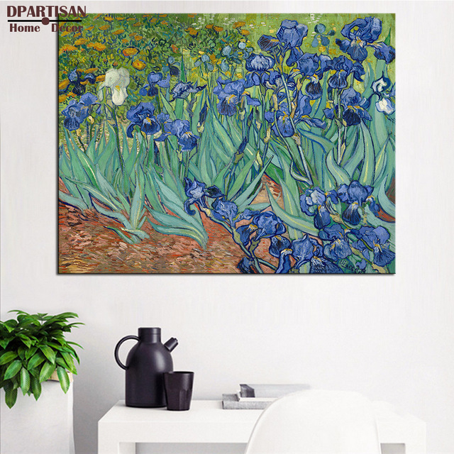 DPARTISAN Vincent Van Gogh Irises 1889 Giclee wall Art Abstract ...