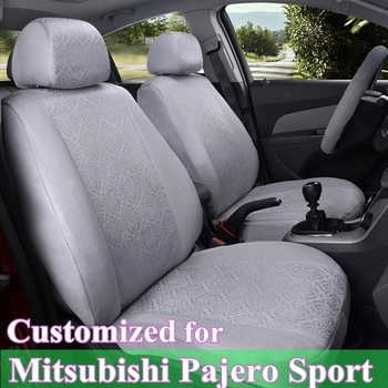 CARTAILOR seat covers for Mitsubishi Pajero Sport car seat cover set  ice silk car seat supports decorative car seat cushions