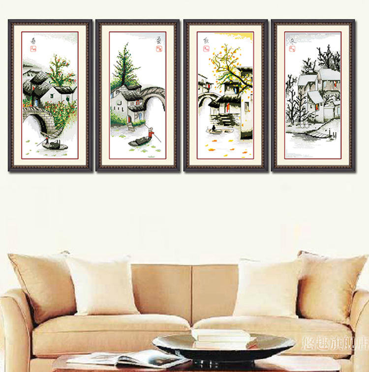 Buy four seasons in water village scenery for International home decor stores