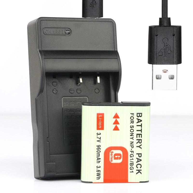 2pcs New Camera NP-BG1 Battery for Sony CyberShot H Series DSC-HX5 DSC-W300