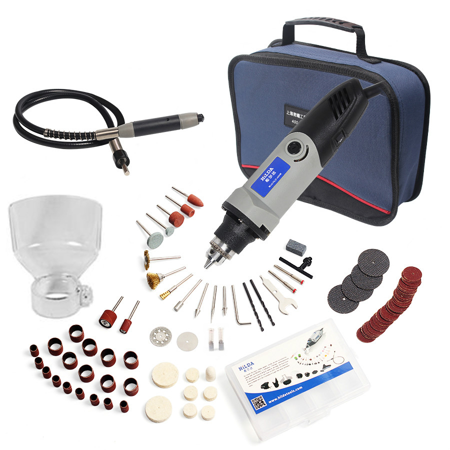 Russia 220V 180W for Dremel Electric Rotary Power Tool Mini Drill with Flexible Shaft 132pcs Accessories Set Storage Bag goxawee 6mm flexible flex shaft 0 6 5mm handpiece for dremel style electric drill rotary tool accessories rotary grinder tool