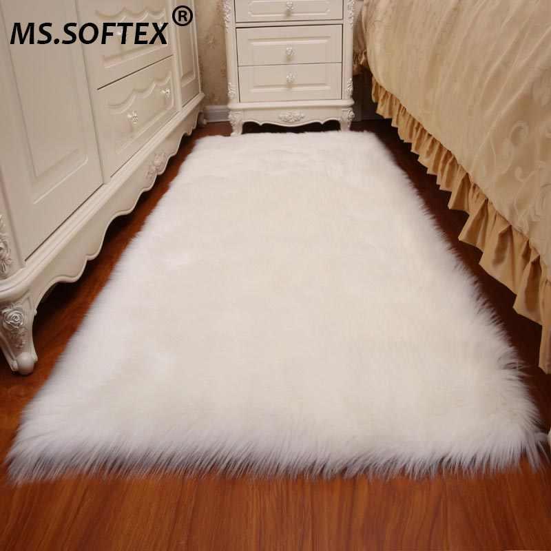 MS.Softex Australian Sheepskin Rugs Real Sheep Fur Rug in round shape Bedroom Decrative Sheepskin