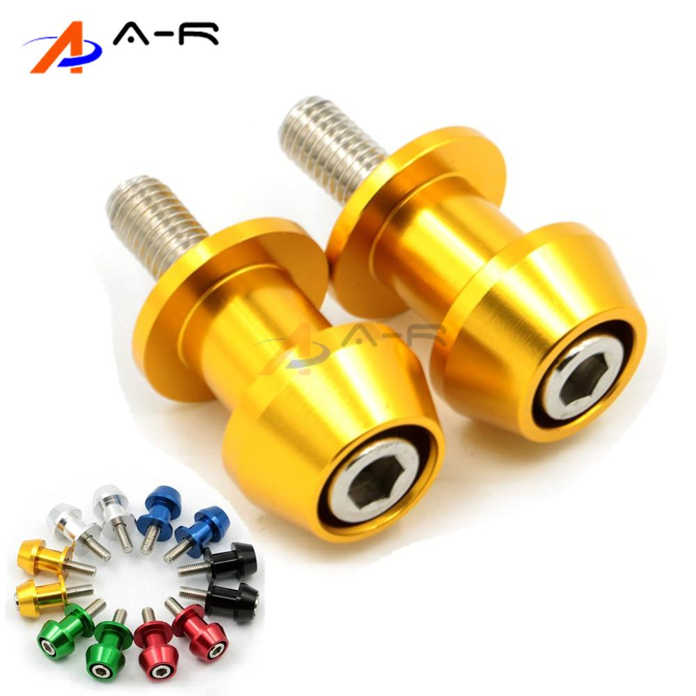 Energetic Pair 6mm Cnc Swingarm Spools Sliders Stands Bobbins For Yamaha Yzf-r1 Yzf-r6 R1 R6 R6s R15 Fz1 Fz6 Fz8 Tmax Vmax Fz1 Mt-01 Mt01 Frames & Fittings Motorcycle Accessories & Parts