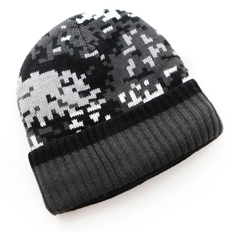 Brand Beanies For Men Skullies Camouflage Knitted Hat Plus cashmere Winter Warm Thick Casual Camo Cap Outdoor Sports Hunting Cap skullies