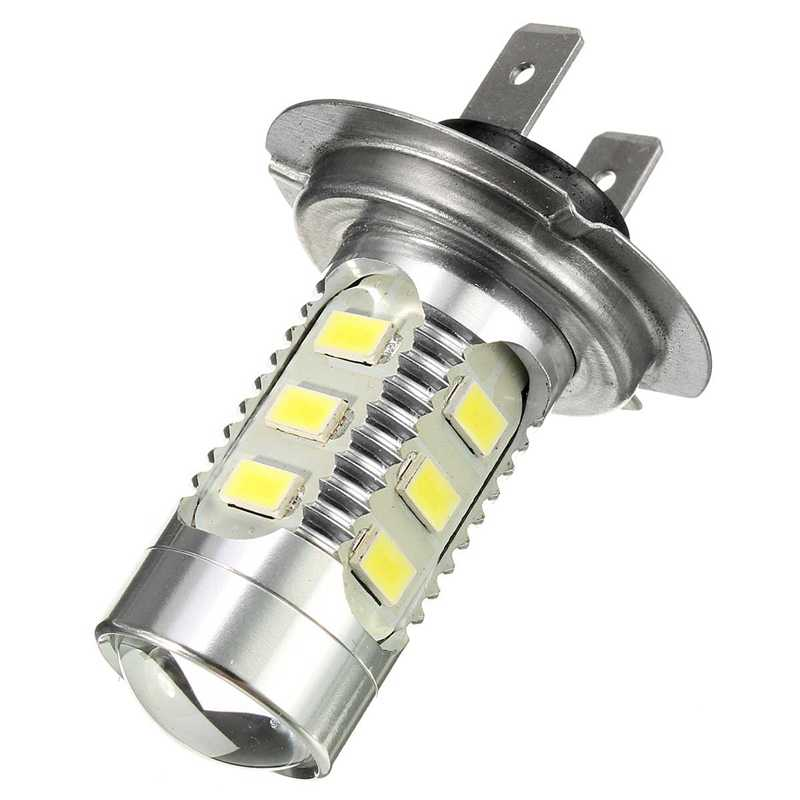 H7 7.5W Car Light Blubs 5630/5730 15SMD 500LM Canbus Car LED Chips Headlights Auto Front Bulb Lamp Headlamp Source White 12-24V