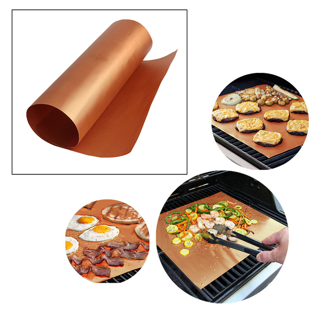 1Pc Nonstick Grill Mat for Barbecue Reusable Baking Pad Grill Skewer BBQ Tools Barbeque Kitchen Accessories 40*60cm 40