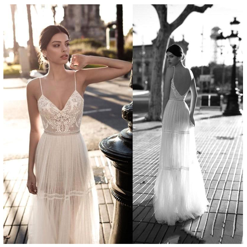LORIE Boho 2019 Sexy Wedding Dress A-Line Appliques Off The Shoulder Bride Dress Custom Made Wedding Gown