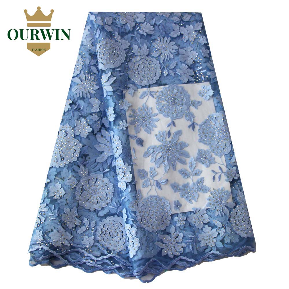 Ourwin African Lace Fabric 5yds/pce By DHL Laser Cut with Stones for Women Party Dresses 2018 New Arrival High Quality Nigerian Ourwin African Lace Fabric 5yds/pce By DHL Laser Cut with Stones for Women Party Dresses 2018 New Arrival High Quality Nigerian