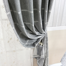 2017 Simple plaid decoration Modern tulle curtains for living room curtains with shade curtains in bedroom