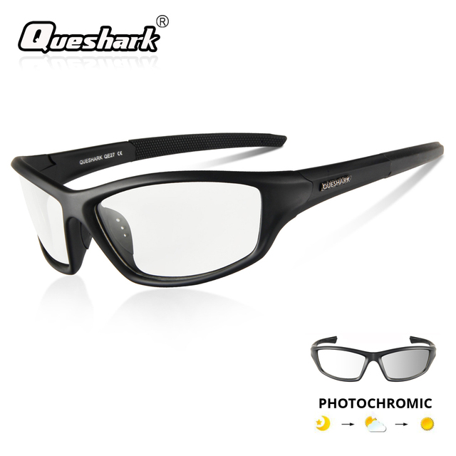 5f10434054f Cheap QUESHARK Photochromic Cycling Bicycle Glasses Outdoor HD Uv400 Driving  Goggles Sports MTB Bike Sunglasses Cycling