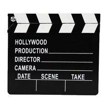 Claqueta de Director de madera de 30cm, película de película, tablero de acción, accesorios de decoración para fiestas