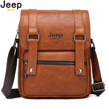 JEEP BULUO Men Messenger Bags New Man's Crossbody Shoulder Bag Large Capacity Leather Travel Tote For 9.7' IPAD Multi-function мультитул jeep multi function knife fitter jeep