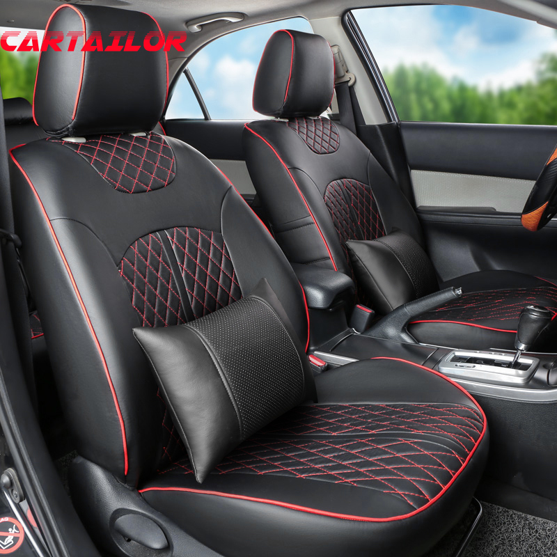 Marvelous Us 299 88 49 Off Cartailor Car Seats For Cadillac Srx Seat Cover Set Black Pu Leather Car Seat Covers Auto Seat Cushion Protector Accessories Set In Uwap Interior Chair Design Uwaporg