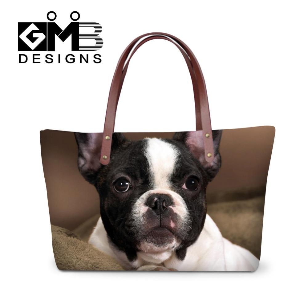 3D Animal Print Bolsos de las mujeres Cute Dog Messenger Bags - Bolsos