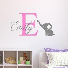 YOYOYU Vinyl wall stickers Kids Room Personalised Name Removeable Decal Nursery Bedroom Decoration Custom Poster ZX298
