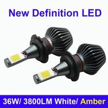 2X автомобилей светодиодные фары H7 H11 H8 H9 H1 H3 9005 9006 881 880 светодиодный налобный фонарь светодиодный светильник тумана дальнего света Conversion Kit все в одном