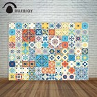 Allenjoy photographic background Multicolor tiles flower pattern Mediterranean style Vintage new backdrop photocall photo